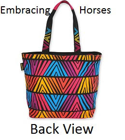 Back of Embracing Horses Bags