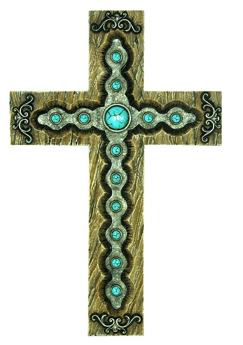 Turquoise Detailed Cross