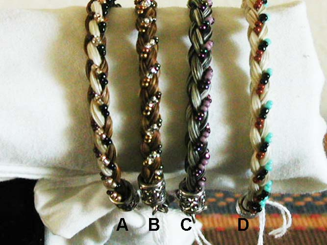 Fun Beaded Horse Hair Bracelets