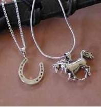 Quality Sterling Equine Pendants