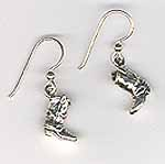Fun Cowgirl Boot Earrings - Sterling