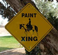 Paint Horse Crossing Sign