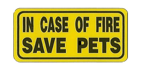 Save Pets Sign