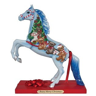 Mr Christmas holiday merry go round carousel horses - YouTube